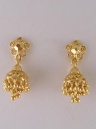 5b403e9d3 US$ 30/Pair Code : EJH-3E, 1gm gold Jhumka (1.5