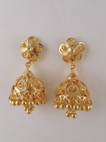 f8d938f93 1gm gold Jhumka with Ruby Stones (1.5