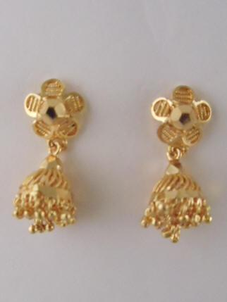 9e48fc911 1gm gold Jhumka (0.75