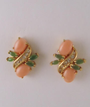 Pink Corals Earrings Coral Roses Amp Tulips