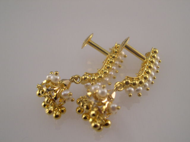 yellow carat is itm hanging solid chain earrings s image beautiful gold designer loading