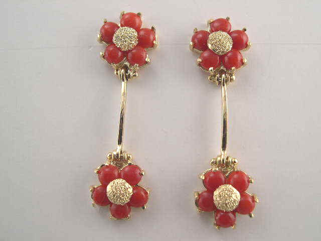 Gold Coral Jewelry Elegant Necklaces Earrings and Pendants