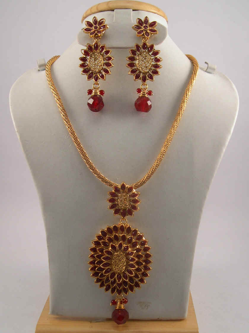 jewellery kundan design necklace haram ruby antique designs