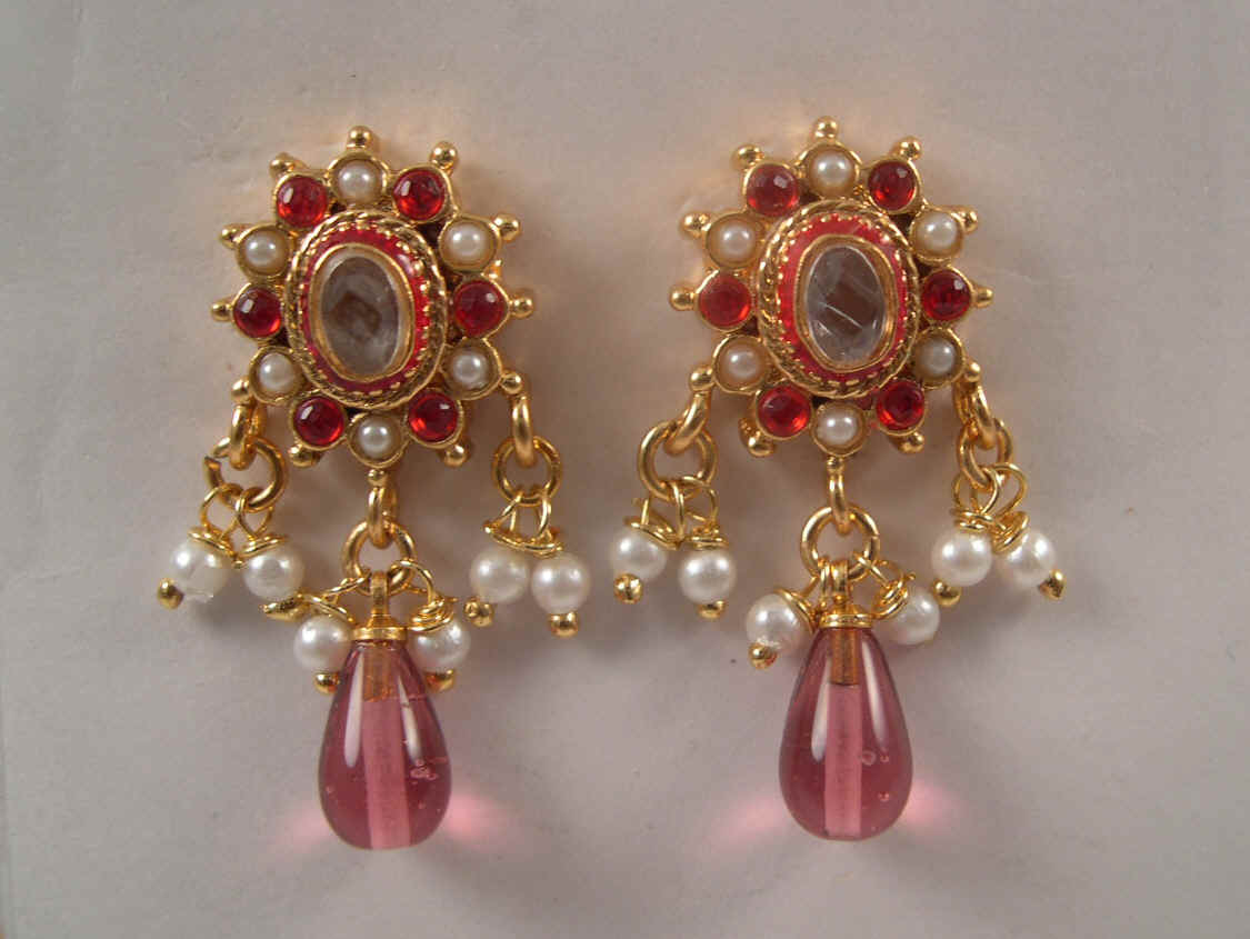 golden in earrings tops parmar shop jewellery fancy pune jewellersparmar jewellers earings mak white stone
