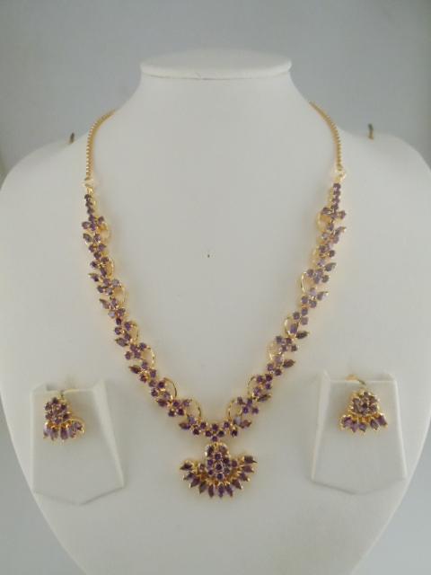 Indian Jewelry Beautiful Gemstone Necklace Sets