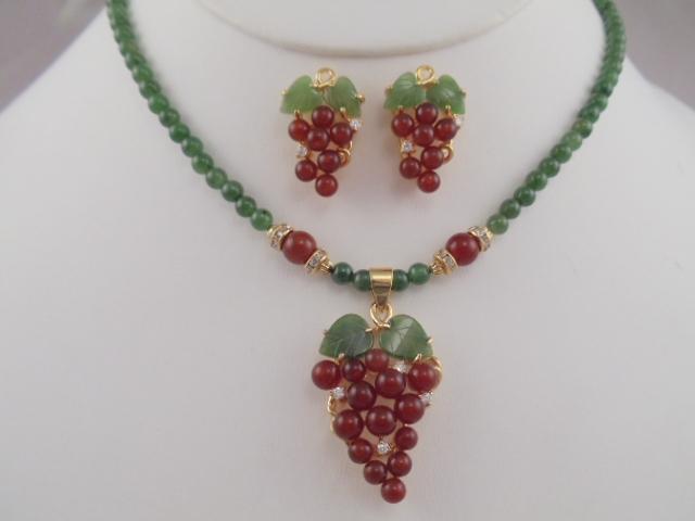 Jade Necklaces Unique Designs with many Gem Stones