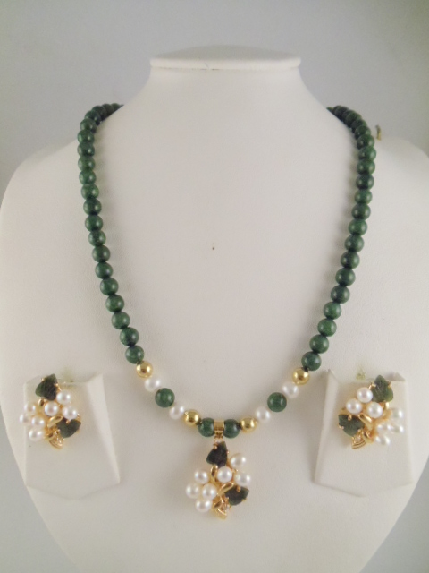 Jade Necklace 4mm Be And Pendant Dyed Us 22 Earring 14 Natural 42
