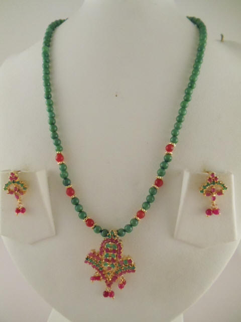 jewelry xin cloisonne three fine necklace earrings yuan ring item jade yu green of