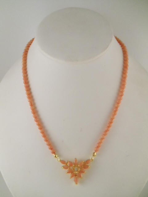 Pink Coral Necklaces Many Designs With Natural Pink Corals