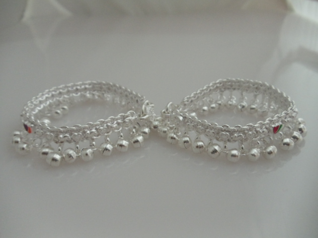 Pure Silver Anklets Silver Baby Anklets With